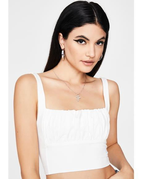 Angelic Posh Romance Ruched Top