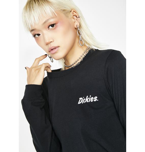 Dickies Girl Spiral Checkered Long Sleeve Tee