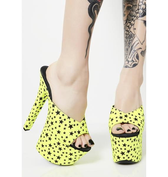 Night Glo Starlet Platform Heels