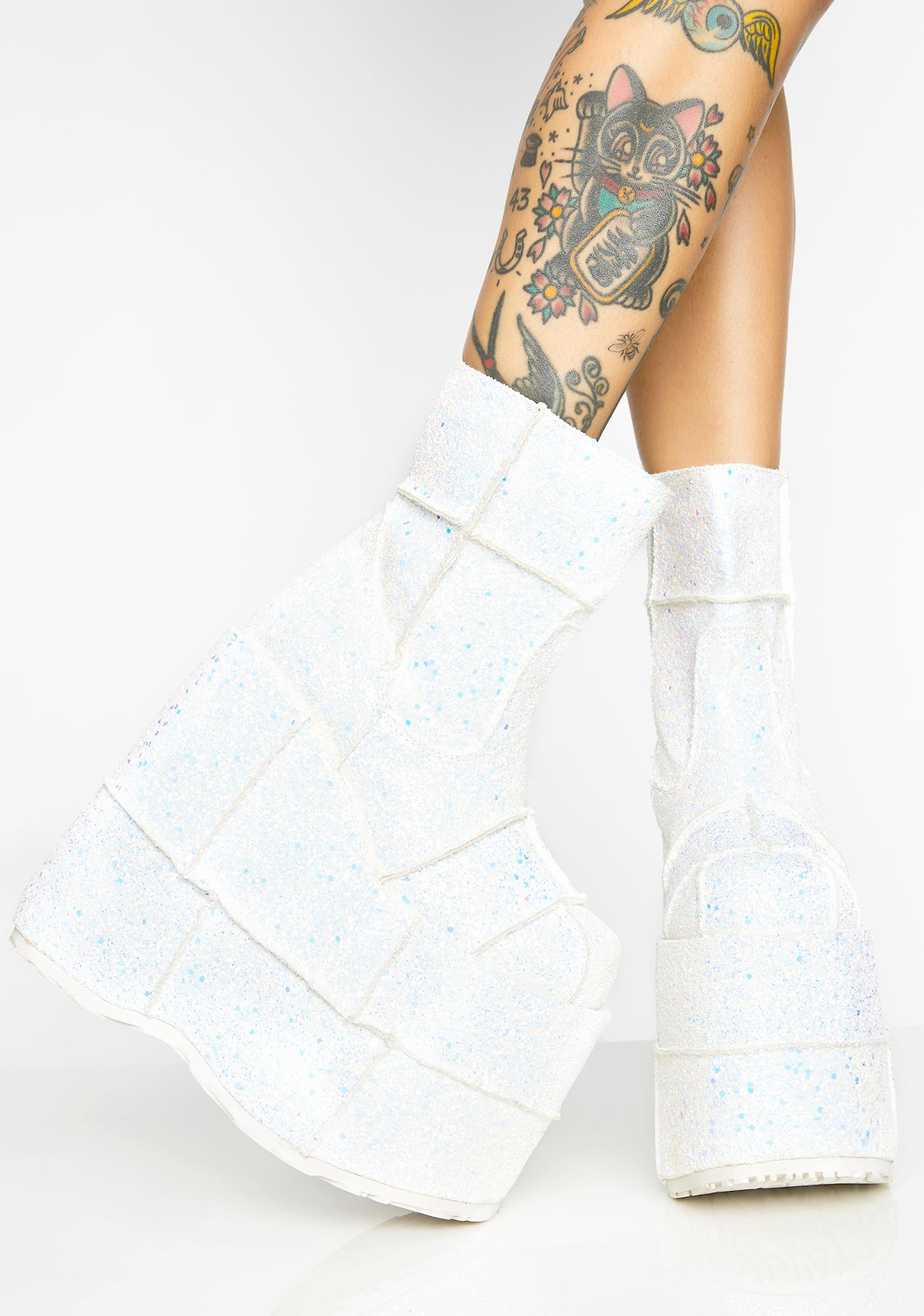 Demonia Icy UV Soul Stomper Stack Boots