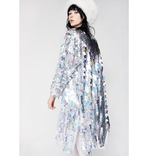Club Exx Glimmer Goddess Sequin Kimono