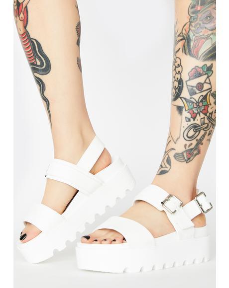 White Sitri Chunky Platform Sandals