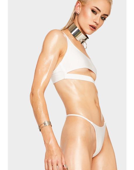 White Discover Bikini Top
