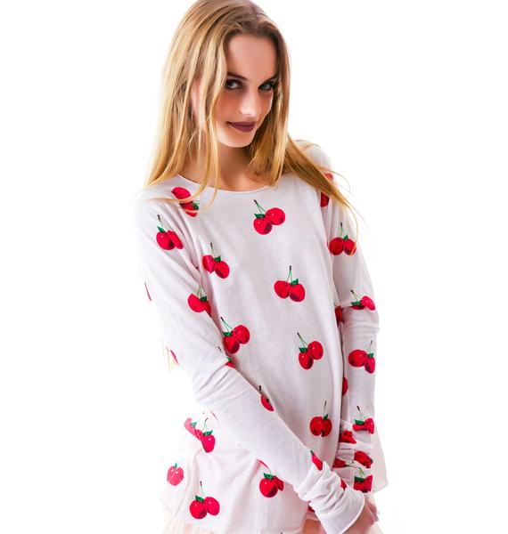 Wildfox Couture All Over Cherries Cozy Raglan