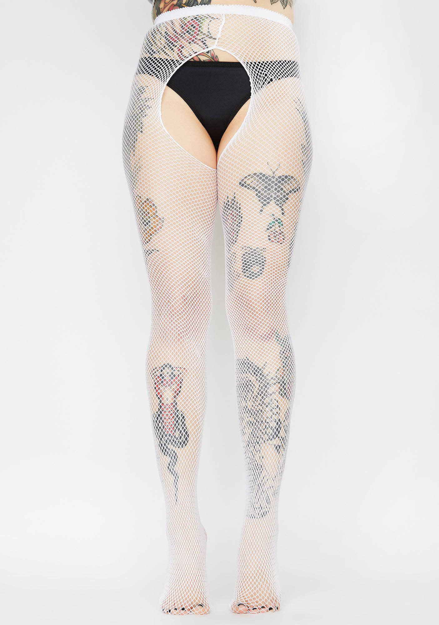 Take It Easy Fishnet Crotchless Tights