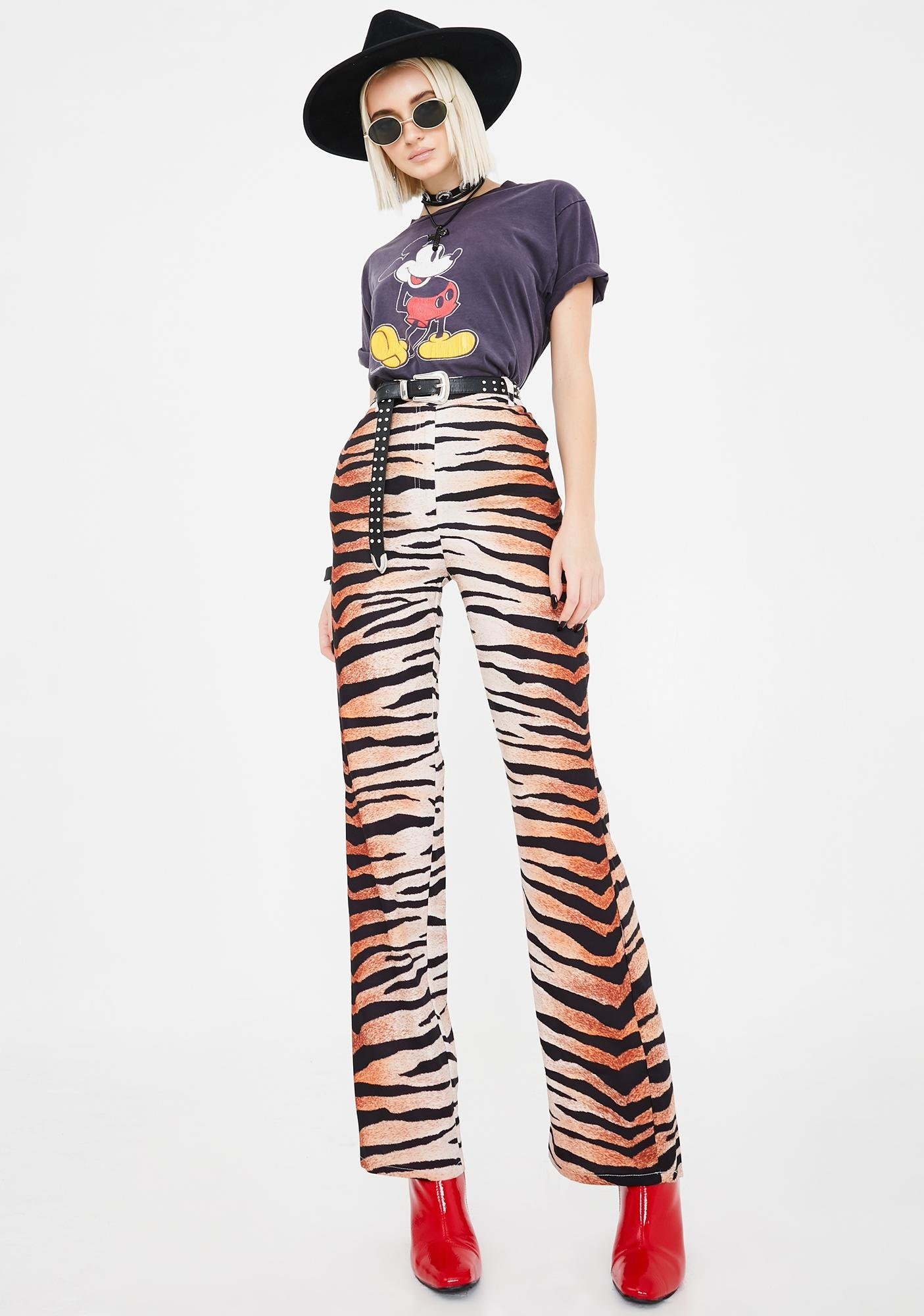 Jagger & Stone Coco Tiger Stripe Flare Pants
