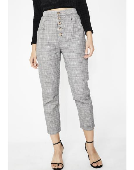 Let It Be Plaid Trousers