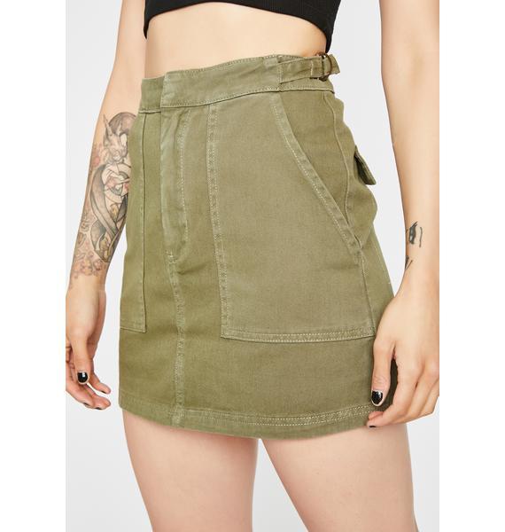 Street Chic Carpenter Skirt