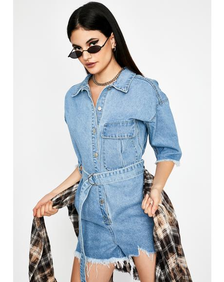 Twerk For Hire Denim Romper
