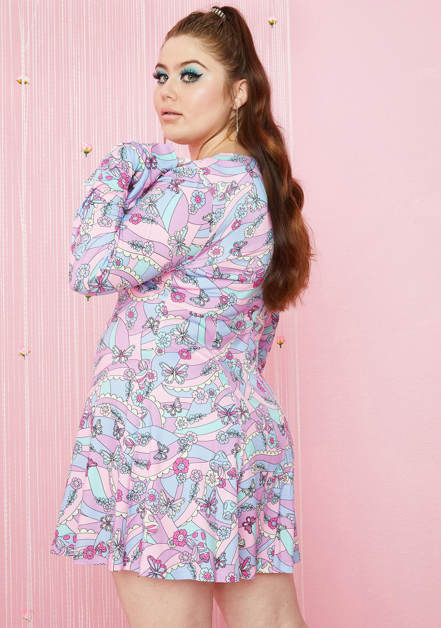 Sugar Thrillz Always Blooming With Love Mini Dress
