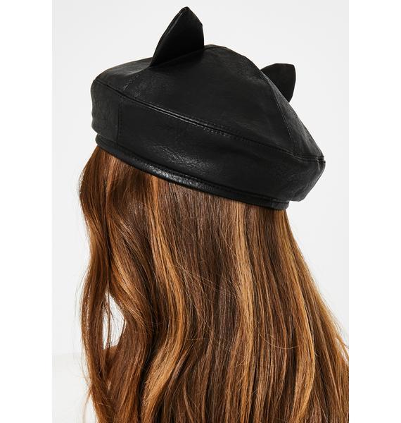 Night Pretty Kitty Paperboy Hat