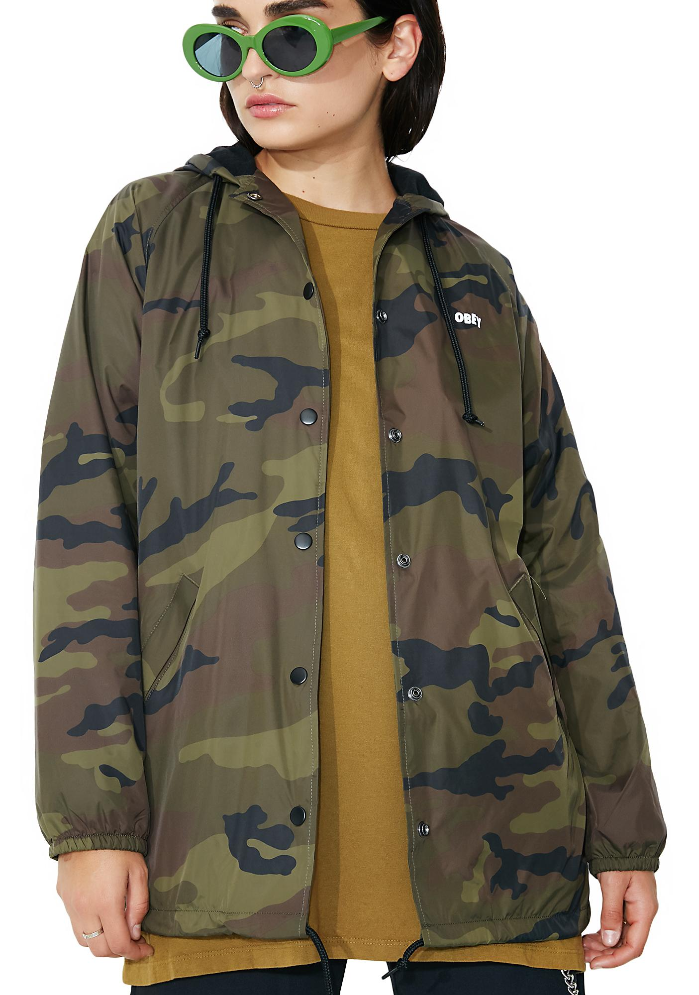 Obey Dominance Hooded Coach Jacket