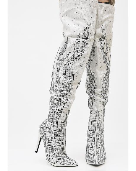 Sparklin' Flame Starter Over The Knee Boots