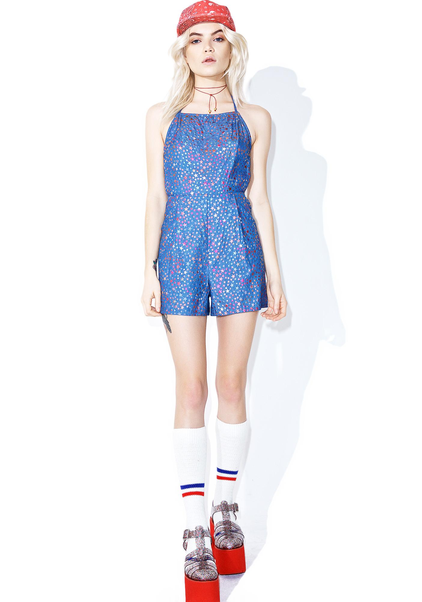 As I Am  Starshine Printed Playsuit