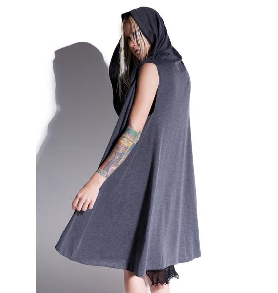 MNML Dark Shadow Sleeveless Hooded Cardigan