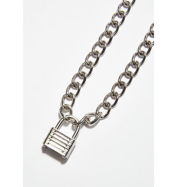 Locked Down Chain Necklace