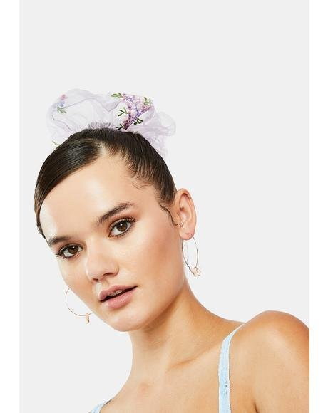 Sweet Grl Butterfly Hoop Earrings
