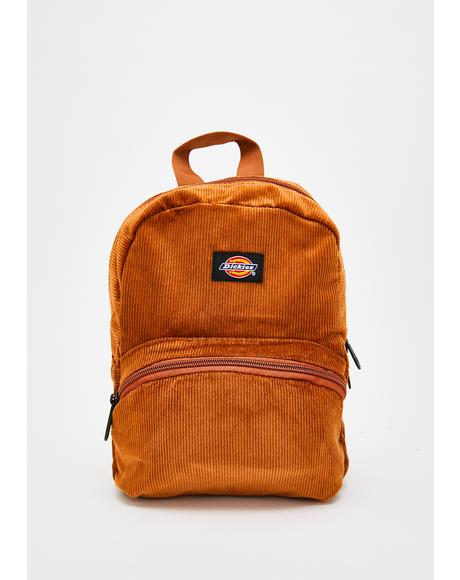 Camel Corduroy Mini Backpack