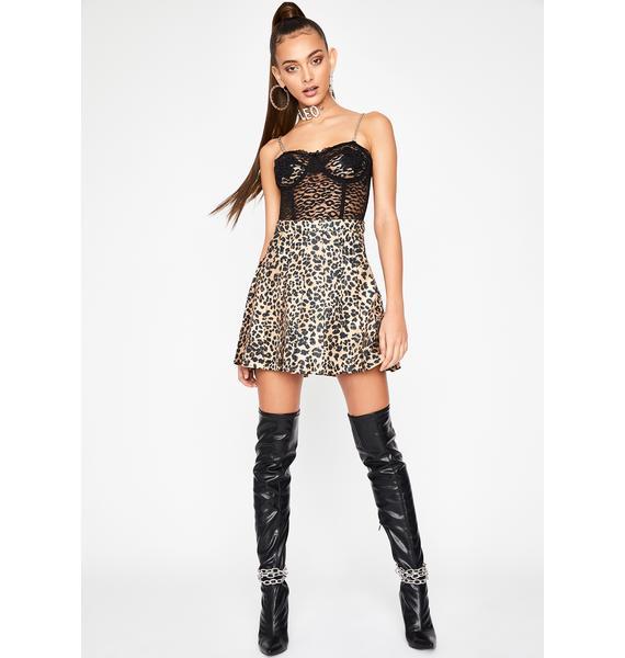 HOROSCOPEZ Stubborn She Cat Leopard Skirt