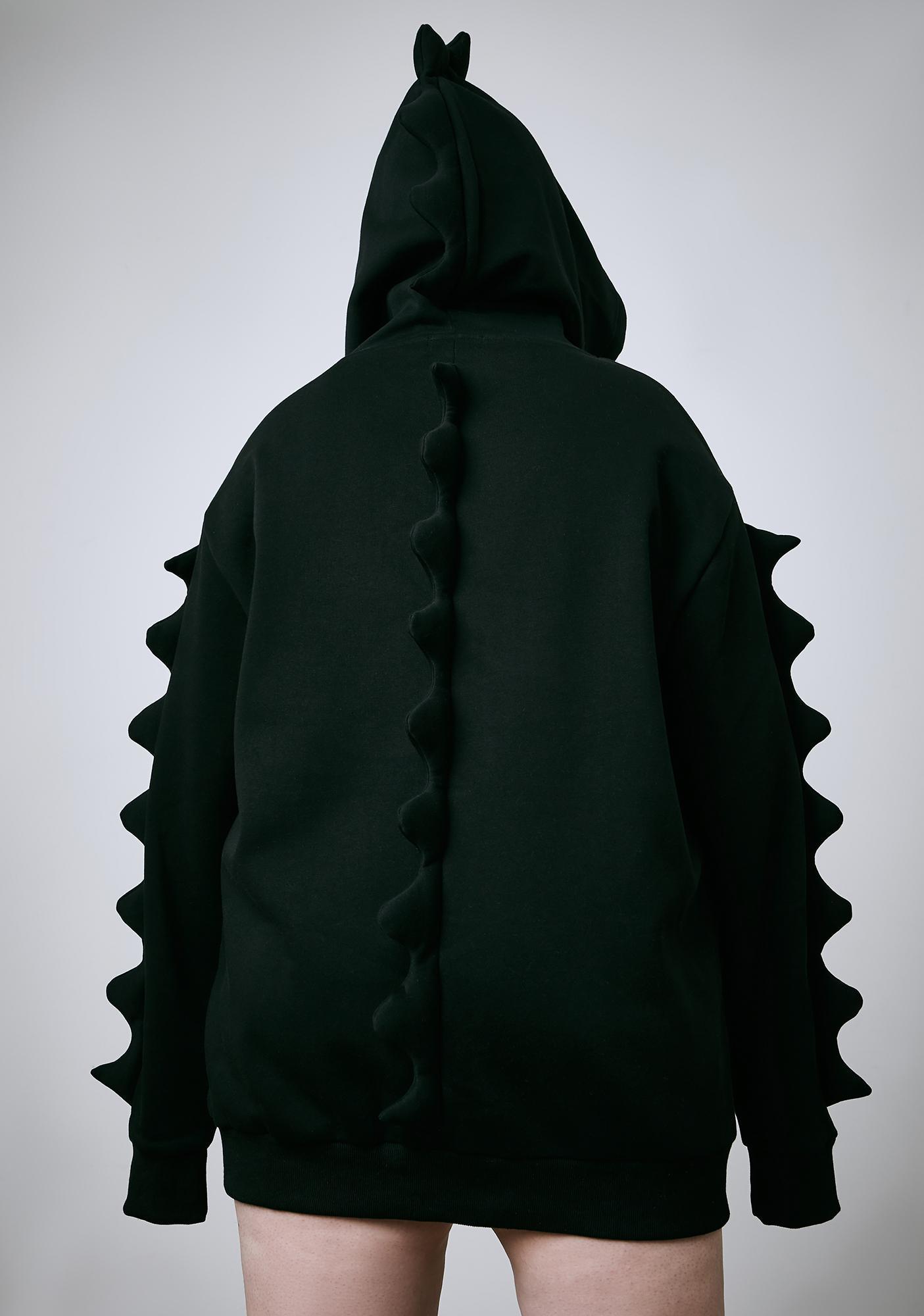 Current Mood Dark It's Dino Mighty Oversized Hoodie