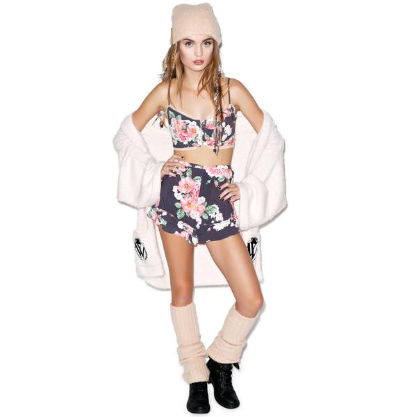 Wildfox Couture Austen Rose Bustier & Short Set