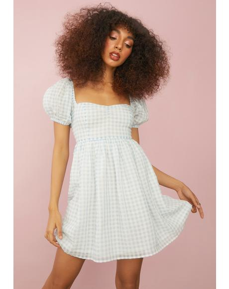 Forgotten Fairytale Gingham Babydoll Dress