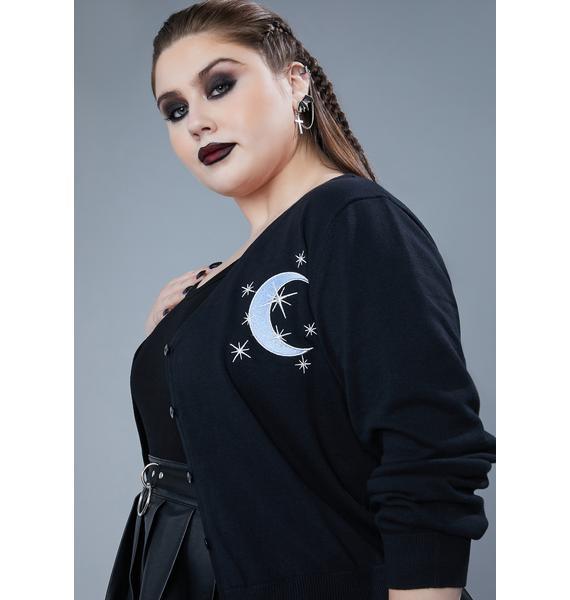 Widow True Moon Mistress Embroidered Cardigan