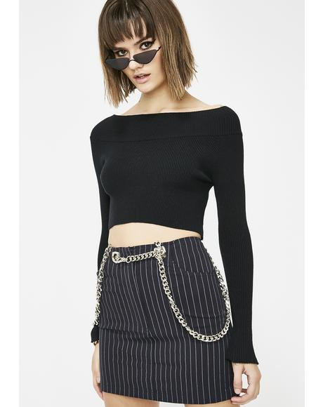 Got 'em Talking Cropped Sweater
