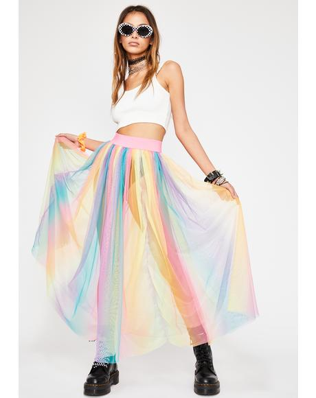 Spectrum Shock Midi Skirt