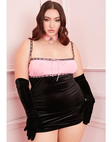 PPS I Love You Velvet Dress