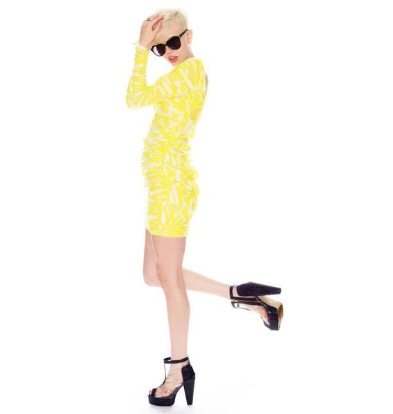 Lazer Cut Dress