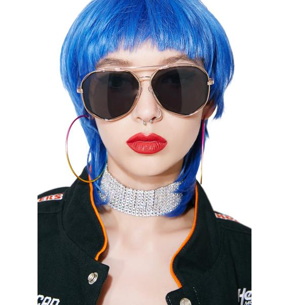 Diamond Bar Aviator Sunglasses
