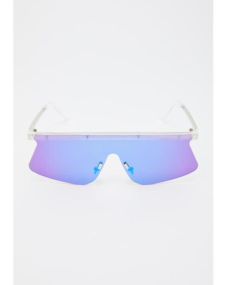 Chromatic Radio Active Shield Sunglasses