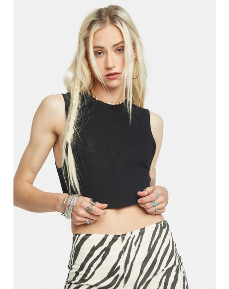 Muscle Up Ribbed Crop Tank