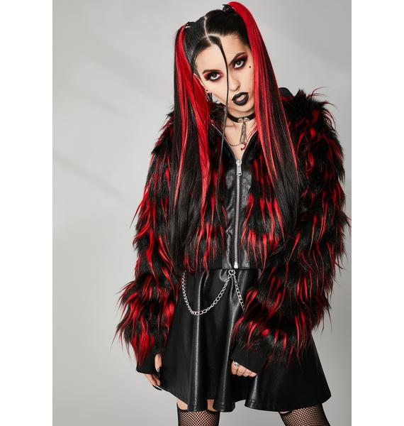 Widow Can't Tame Me Faux Fur Jacket