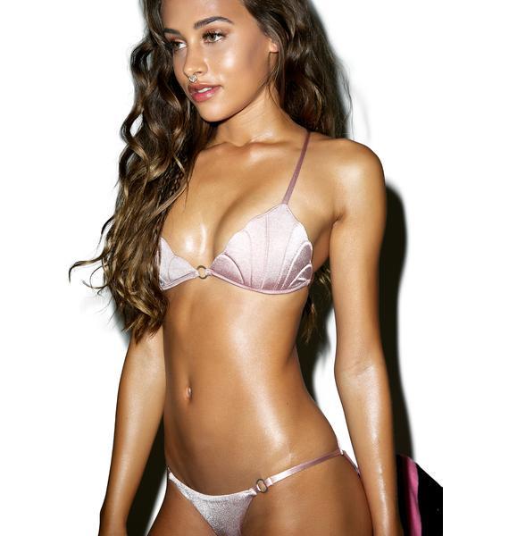 Margarita Mermaid Oyster Rose Nouvelle Bikini Top