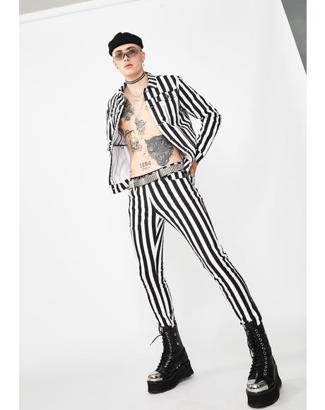 Stripe Rocker Jeans
