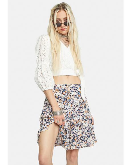 Ava Floral Mini Skirt