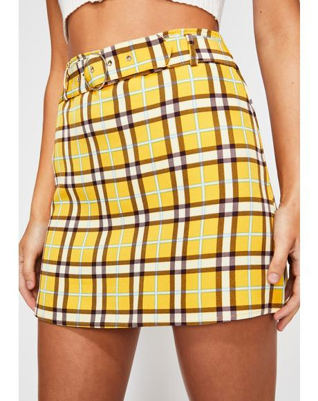 Sunny Campus Queen Plaid Skirt