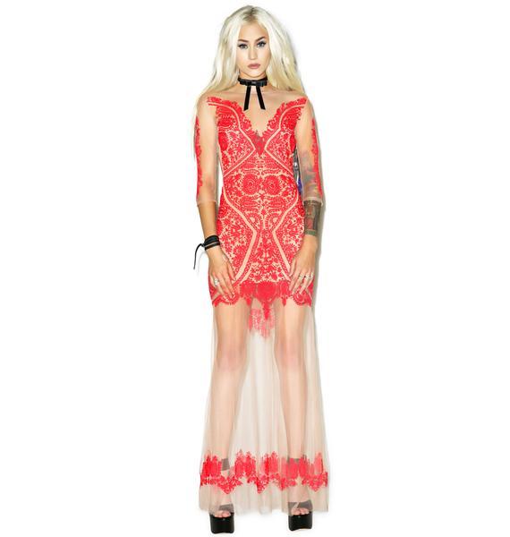 For Love & Lemons Lotus Maxi Dress