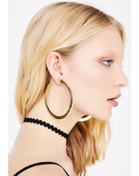 Make The Rounds Hoop Earrings