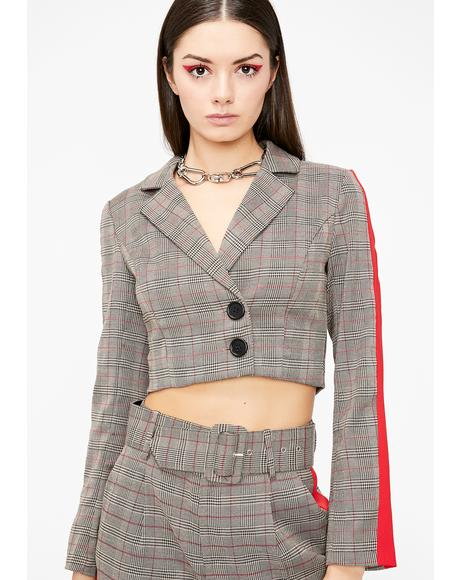 Cooley High Plaid Blazer
