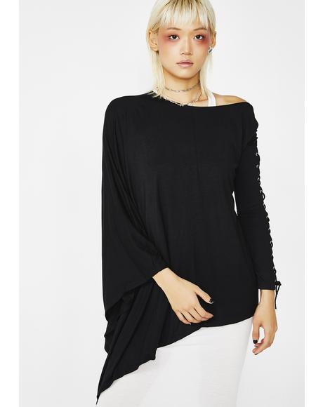 Gothic NYX Asymmetric Top