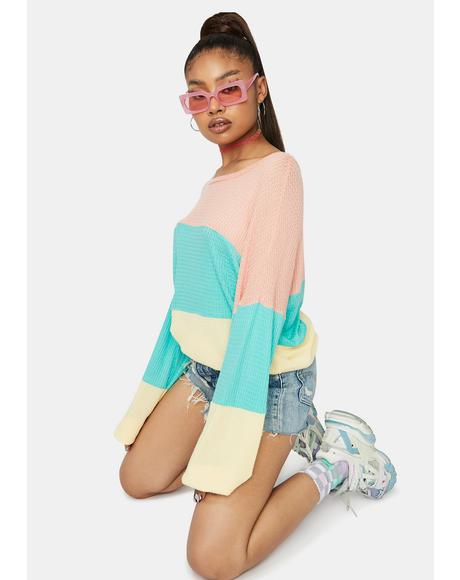 She's Independent Colorblock Sweater