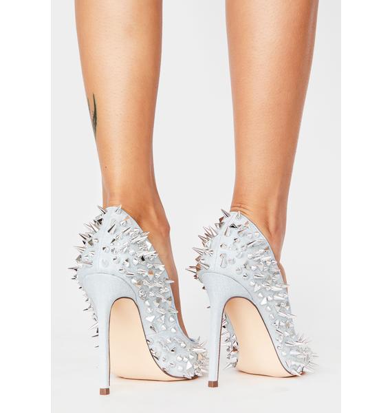 AZALEA WANG Denim Flex Stiletto Heels