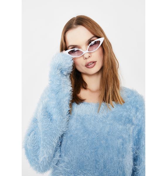 Lilac Sassy but Sweet Cat Eye Sunglasses