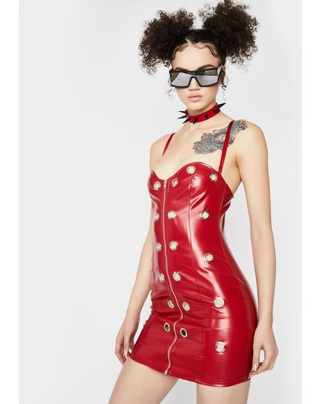 Rouge No Discipline Faux Leather Dress