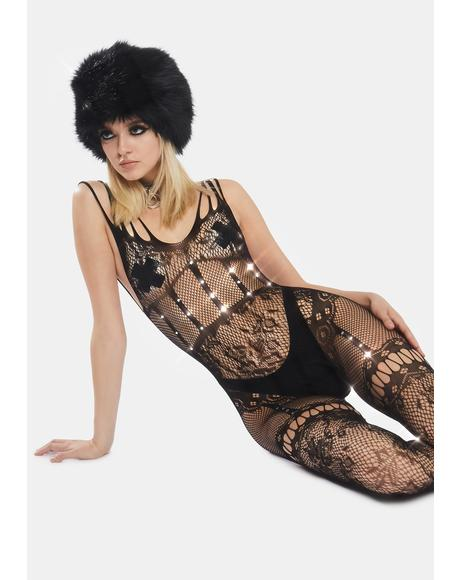 Rockin' Body Floral Fishnet Bodystocking