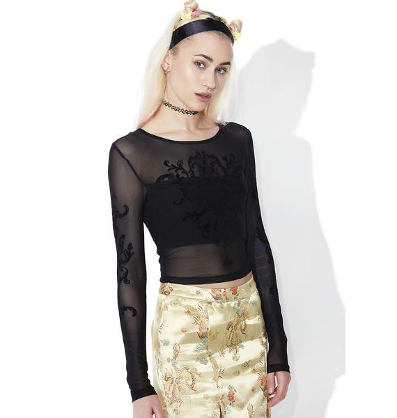 Mink Pink Enlighten Me Mesh Crop Top