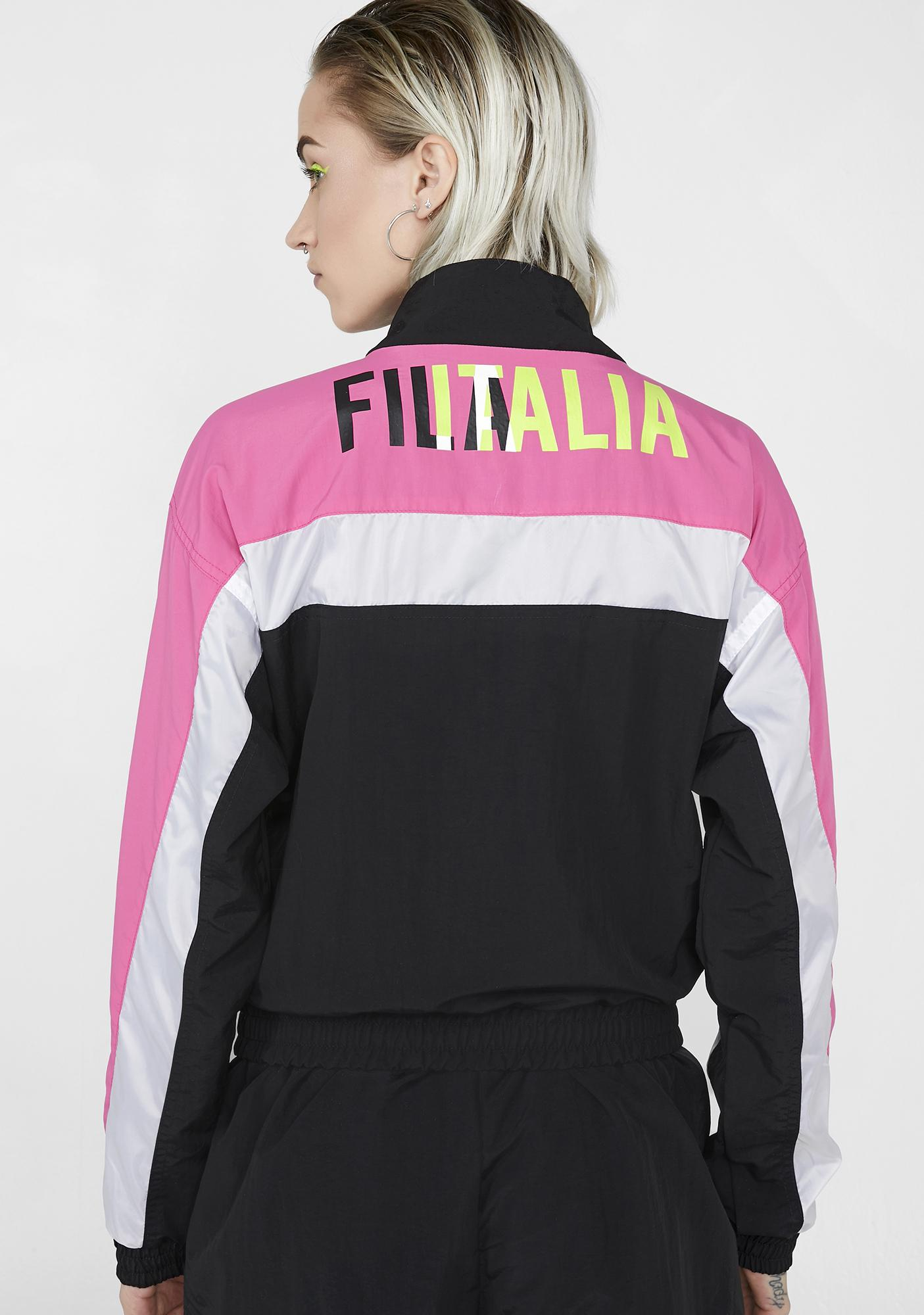 96d183347af9 Fila Conchita Half Zip Wind Jacket | Dolls Kill